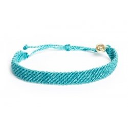 Zapestnica Pura Vida - Pacific Blue, Flat Braided