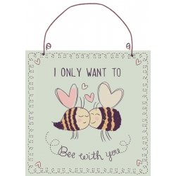 "Kovinska tablica ""Bee with you"""