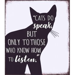 "Kovinska tablica ""Cats do speak"""