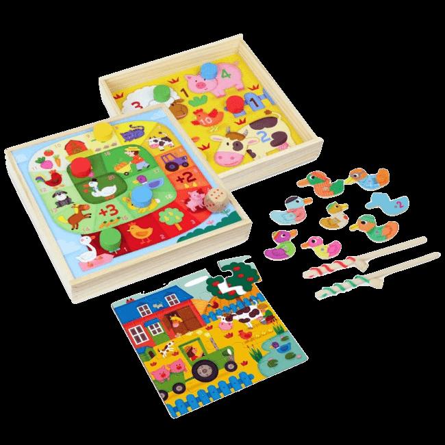 Komplet 4 družabnih iger za malčke